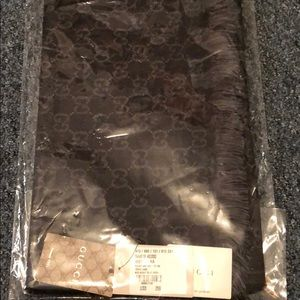 Gucci Navy Blue Scarf.  Brand New